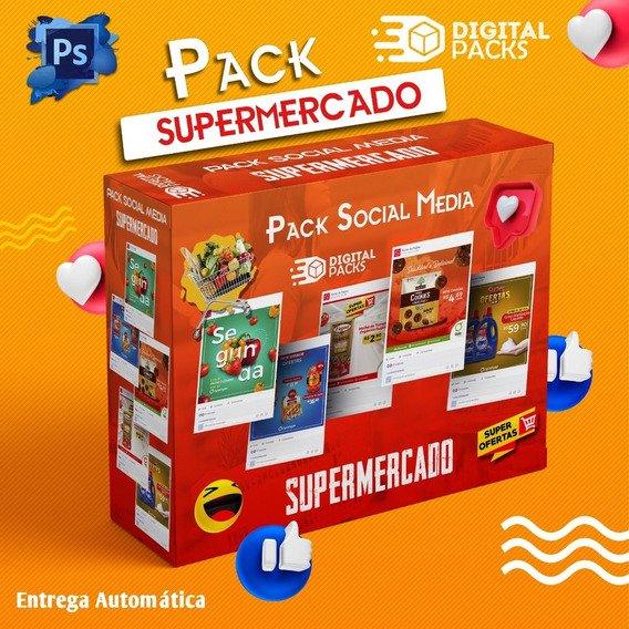 Pack Social Media Supermercado Psd + Bônus