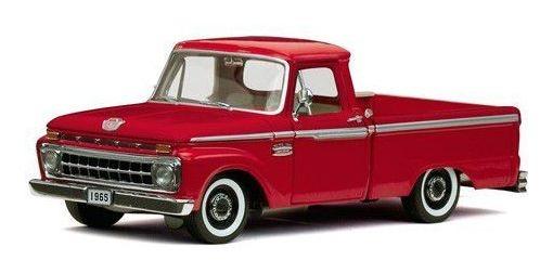 1965 Ford F-100 Custom Cab Pickup Vermelho - 1:18 - Sun Star