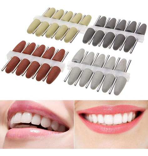 Imagen 1 de 6 de 40pcs Laboratorio Dental De Silicona Pulidores De Goma De Ma