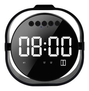 Kk Bocina Bluetooth Despertado Espejo Led M56 Reloj Digital
