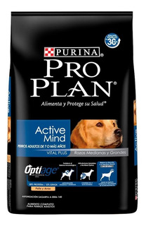 Alimento Pro Plan Active Mind perro senior raza mediana/grande pollo/arroz 15kg