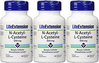 Extensión De Vida De La N-acetil-l-cisteína 600 Mg 60