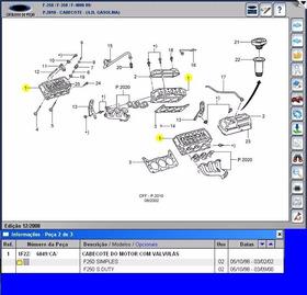 Cabeçote D Motor F250 V6 4.2 Gasolina 98a02 Com Válvulas