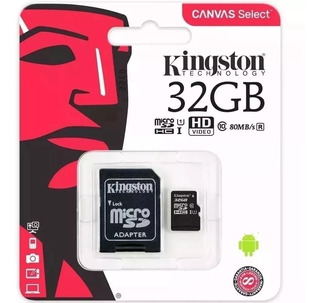 Cartão De Memória 32gb Classe 10 Kingston Original Micro Sd.