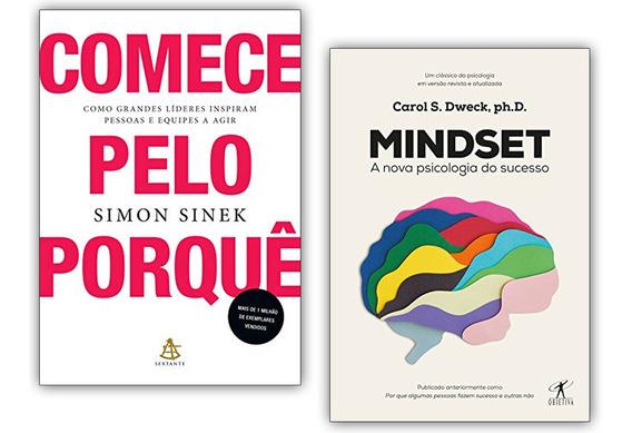 Livro Mindset E Comece Pelo Porquê Como Grandes Líderes