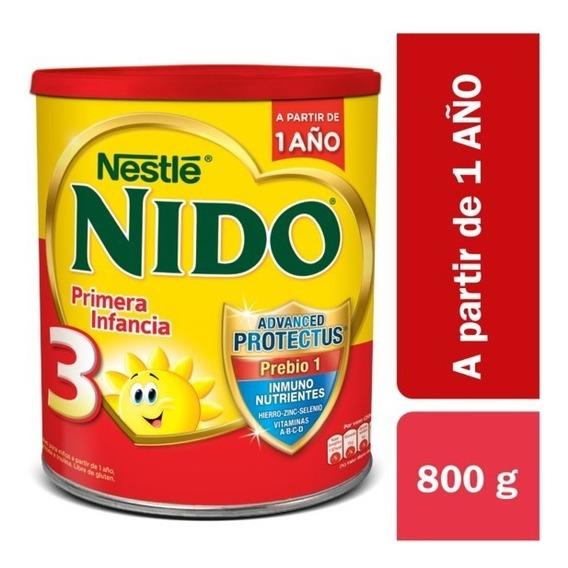 Nido 3 Primera Infancia Leche En Polvo Lata X 800gr. Nestlé