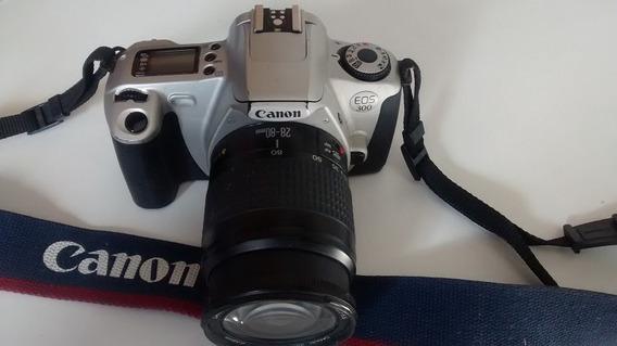 Câmera Canon Eos 300 Analógica + Lente 28 - 80 Mm