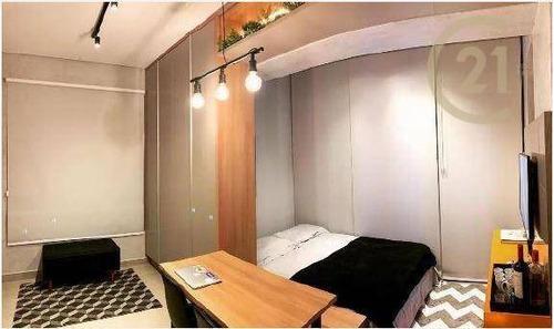 Studio Com 1 Dormitório À Venda, Totalmente Mobiliado E Pronto Para Morar Com 25,22 M² Por R$ 555.000 - Vila Olímpia - São Paulo/sp - St0379