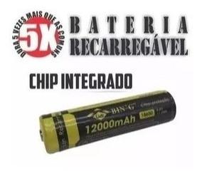 Bateria 12000 Mah Com Chip De Proteção 18650 Bing
