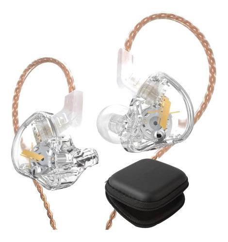 Imagen 1 de 8 de Kz Edx Audifonos Con Micro + Estuche In Ear Transparente