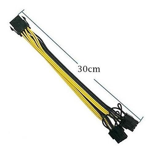 Imagen 1 de 4 de Cable De Alimentación Pci Express Vga 8 Pines A Doble (6+2)