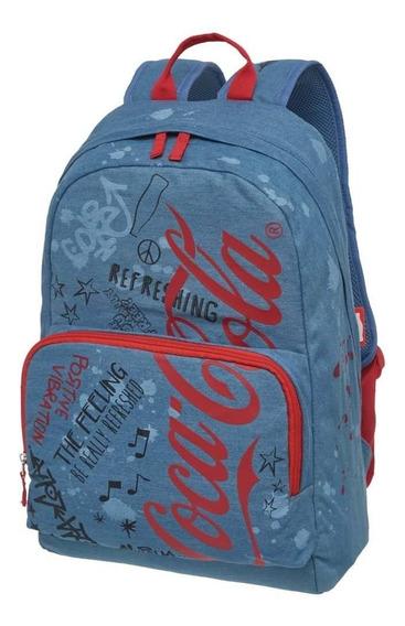 Mochila Jeans Coca-cola Doodles Original 7119004