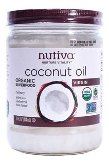 Aceite De Coco Virgen Y Orgánico Puro Natural Nutiva 414ml