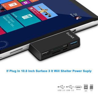 Surface Pro Hub Adapter/card Reader, High Speed Usb 3.0 Tran