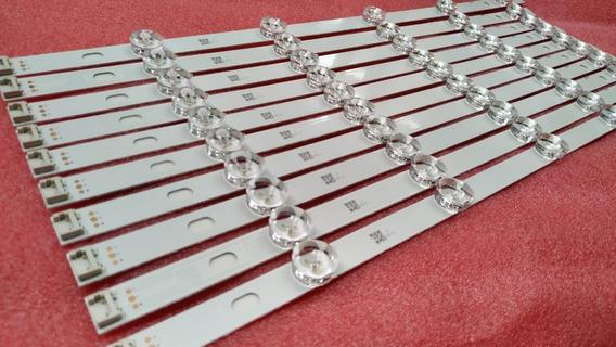 Kit Completo 10 Barra De Led Tv LG 47ln5460 Em Aluminio Nova