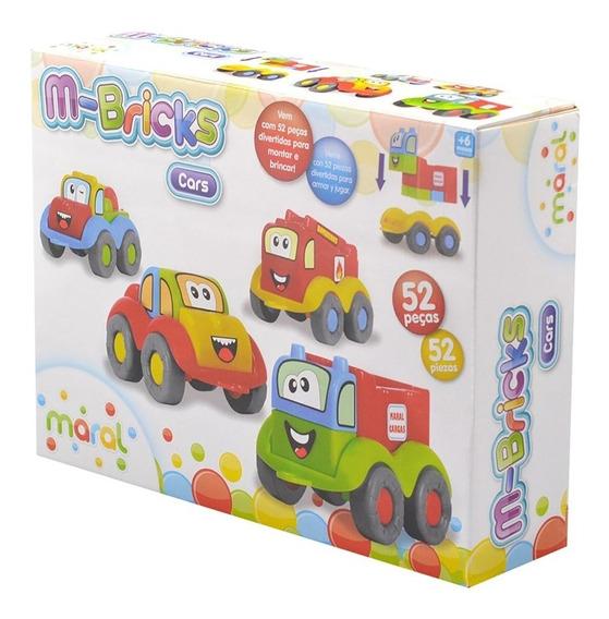 Conjunto Com 52 Peças 4105 M-bricks Cars Maral