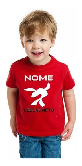 Camiseta Camisa Infantil Luccas Neto Super Foca Blusa Nome 2