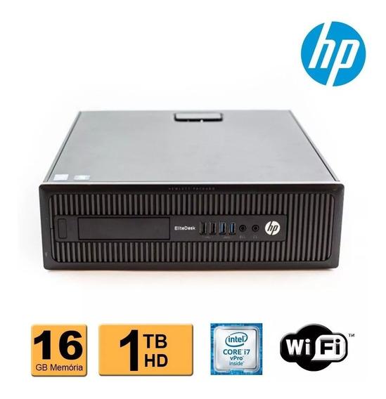 Cpu Hp Elitedesk 800 G1 Sff I7 Vpro 4ª Geração 16gb 1tb Wifi