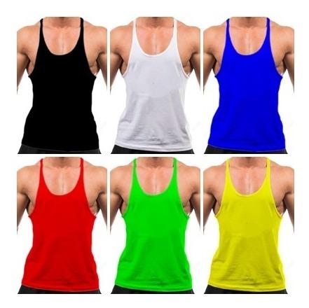 Kit 10 Camiseta Regata Cavada Treino Maromba Bodybuilder Machão Fitness Shap