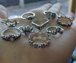 Anillos Midi Ring Tendencia Accesorios Set 7 Dama Moda Mujer