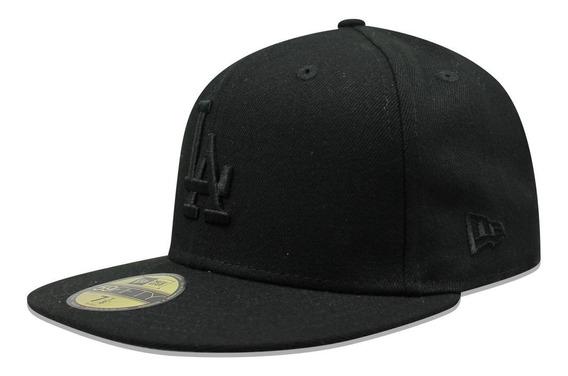 Gorra New Era 59 Fifty Mlb Dodgers Basic Black On Black