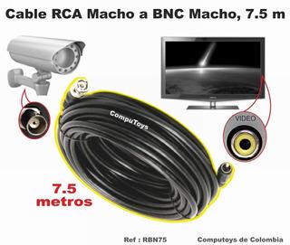 Zrbn75 Conecte Camaras Seguridad Bnc A Rca 7.5m Computoys
