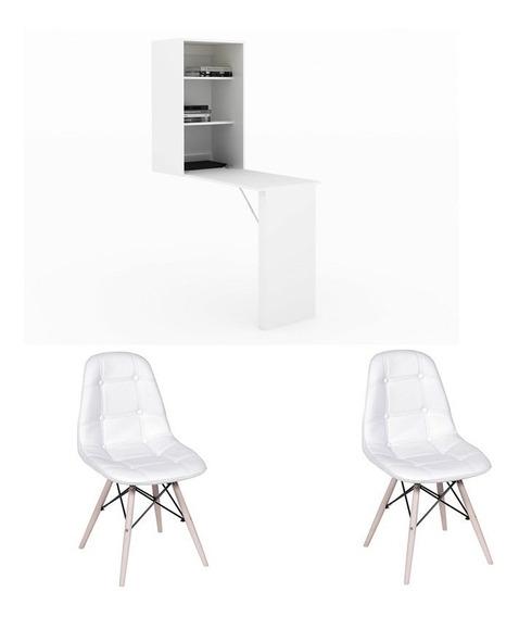 Mesa Para Manicure Am3106 Com 2 Cadeiras Botonê Cab
