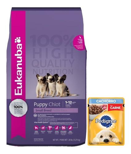 Imagen 1 de 2 de Alimento Eukanuba Cachorro Raza Pequeña 15k + Regalo + Envío