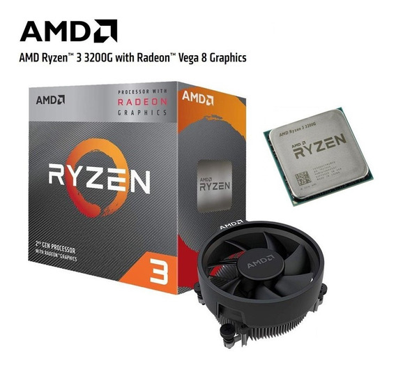 Processador Amd Ryzen 3 3200g 3.6ghz Vega 8 Yd3200c5fhbox