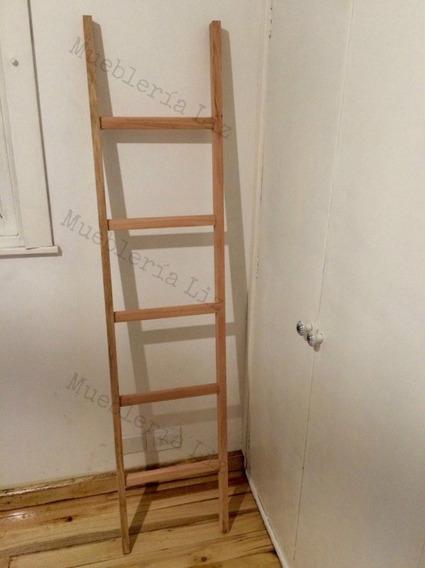 Escalera Perchero De Madera Decorativa Toallero Revistero 35