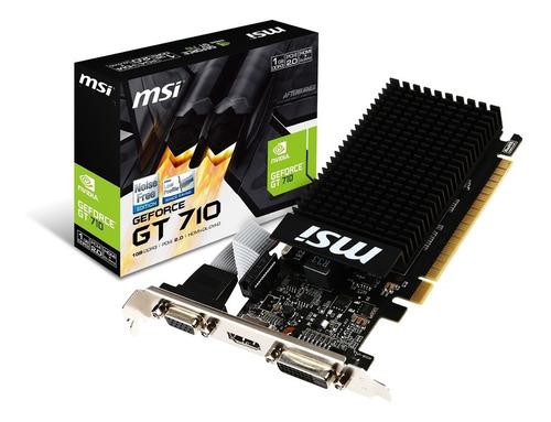 Imagen 1 de 6 de Placa Video Msi Geforce Gt 710 1gd3h Lp Low Profile 1gb Ddr3