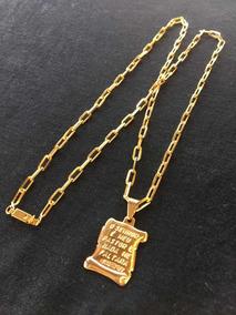 Cordão Cartier + Pingente (banhado A Ouro)