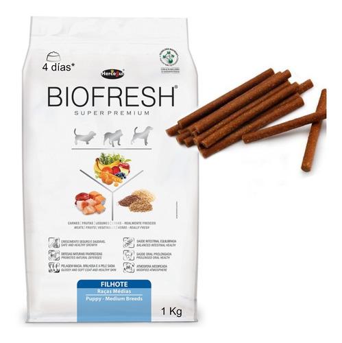 Biofresh Cachorro Raza Media 1 Kg Con Snacks