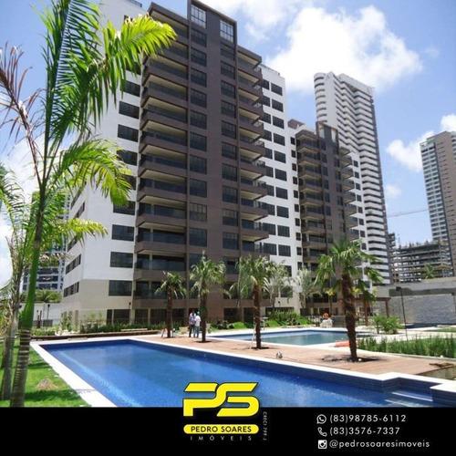 Apartamento Com 4 Dormitórios À Venda, 245 M² Por R$ 1.579.076 - Altiplano Cabo Branco - João Pessoa/pb - Ap3104