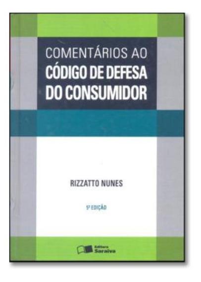 Comentarios Ao Codigo De Defesa Do Consumidor 5ª Edicao