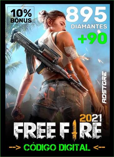 Imagem 1 de 9 de Free Fire 895 Diamantes + 90 Bônus (985) Recarga P/ Conta