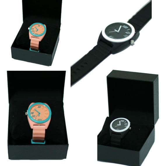 Relógio Lançamento Feminino Borracha Luxo Tendência Promoção
