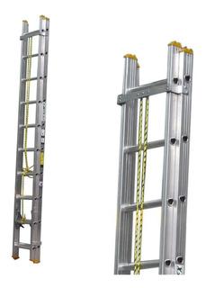 Escalera Aluminio Escalumex De Extensión 32 Peldaños 9.76 Mt