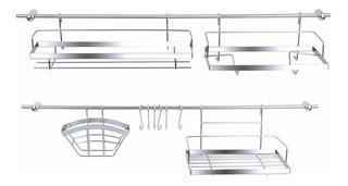 Organizador Set Kit Cocina Barral Colgar 16 Pz Cromo Daccord
