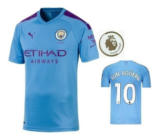 Camisa Manchester City Lançamento Kun Aguero Pronta Entrega