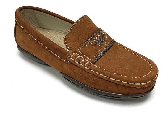 Zapatos Mocasines Full Time Niño Kaki Ft 9117 Corpez 39
