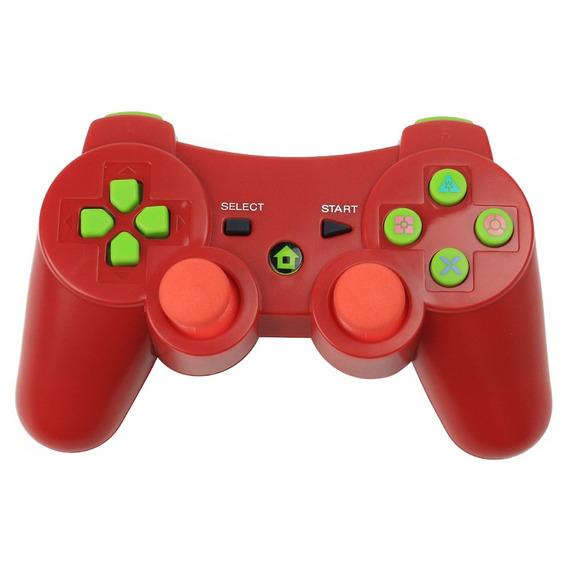 Ps3 Gamepad Sem Fio Bluetooth Vermelho