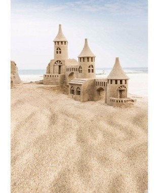 Fundo Fotográfico Temático Para New Born Castelo De Areia