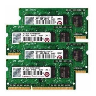 Memoria Ddr3 4gb 1600- 12800 Sodimm Transcend Nueva Para Lap