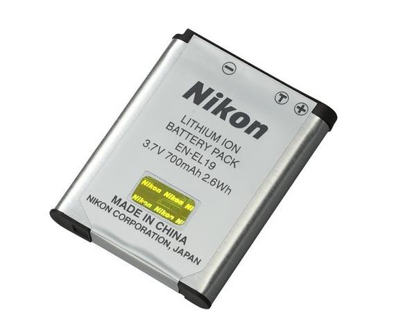 Kit Bateria Nikon 700mah En-el19 S4300 S6400 S6500 Envio Já