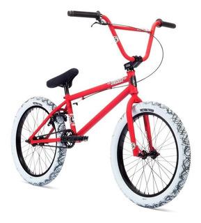 Bicicleta Bmx Stolen Stereo ¡roja Y Cubiertas Blancas Camo!