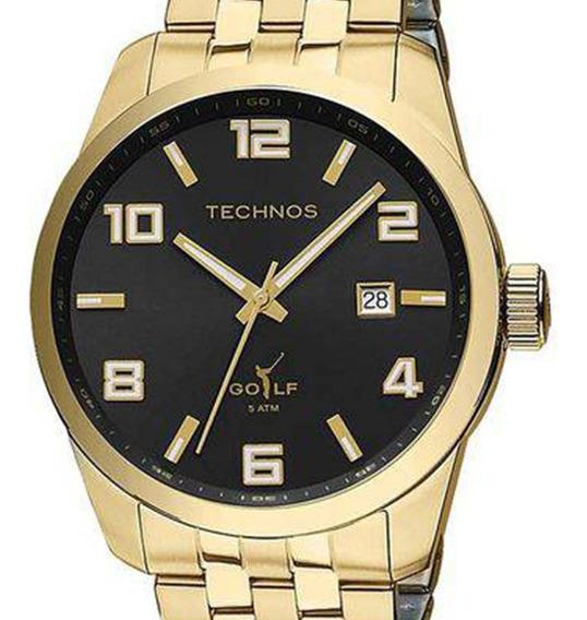 Relógio Technos Golf Masculino Classic 2315yj/4p Dourado +nf