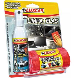 Kit Limpa Telas Spray 4780 100ml Luxcar Tv Led E Plasma
