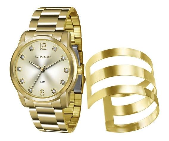 Kit Relógio Lince Feminino Bracelete Lrg4391l K190 C2kx