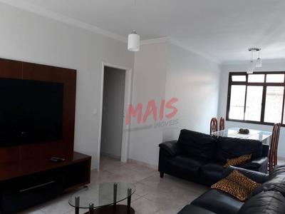 Apartamento Mobiliado Com 3 Dormitórios Para Alugar, 105 M² Por R$ 2.500/mês - Aparecida - Santos/sp - Ap5078